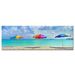 ''Three Umbrellas'' Canvas Wall Art