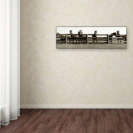 ''Thoroughbreds'' Canvas Wall Art