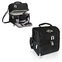 Picnic Time Baltimore Ravens Pranzo 7 pc Insulated Cooler Lunch Tote Set