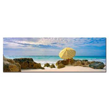 ''Bermuda Umbrella'' Canvas Wall Art