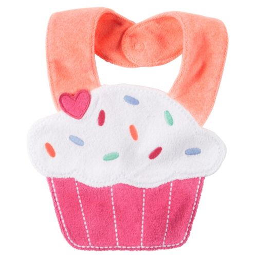 Baby Girl Carters Cupcake Teething Bib