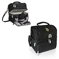 Picnic Time Minnesota Vikings Pranzo 7 pc Insulated Cooler Lunch Tote Set