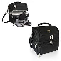 Picnic Time New Orleans Saints Pranzo 7 pc Insulated Cooler Lunch Tote Set