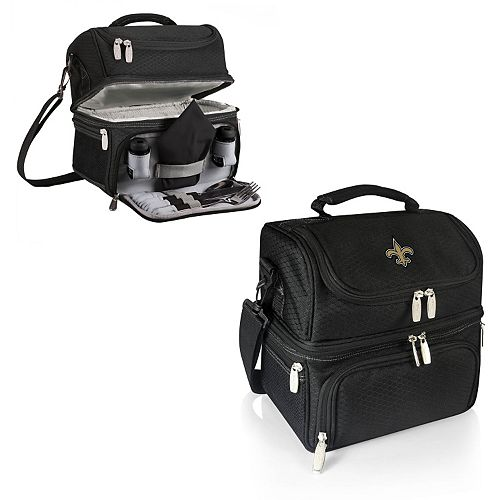 Picnic Time New Orleans Saints Pranzo 7-Piece Insulated Cooler Lunch Tote Set