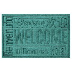 WaterGuard Worldwide Welcome Indoor Outdoor Mat - 24'' x 36''
