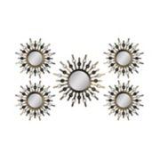 Stratton Home Decor Sunburst Mirror Metal Wall Art 5-piece Set
