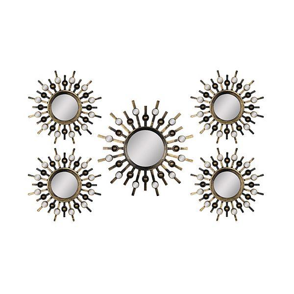 Stratton Home Decor Sunburst Mirror Wall Art 5 Piece Set