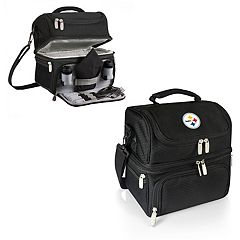 Picnic Time Pittsburgh Steelers Pranzo 7 pc Insulated Cooler Lunch Tote Set