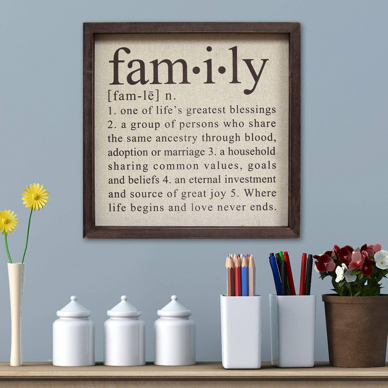 Home Decor Art Part - 42: Stratton Home Decor Family Framed Wall Art