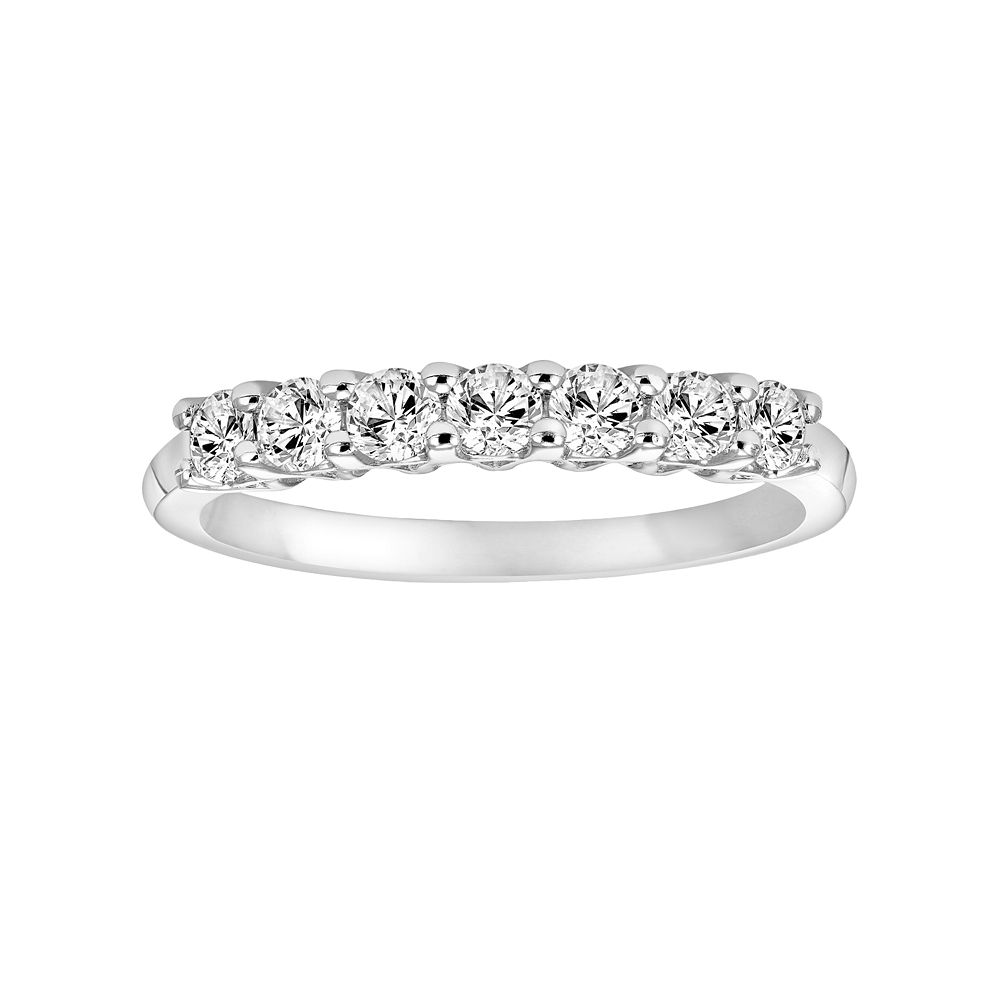 Simply Vera Wang 14k White Gold 1 3 Carat TW Diamond Wedding Band