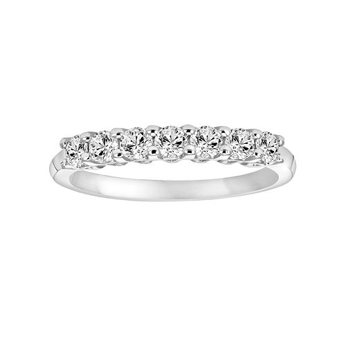 Simply Vera 14k White Gold 1 3 Carat T W Diamond Wedding Band