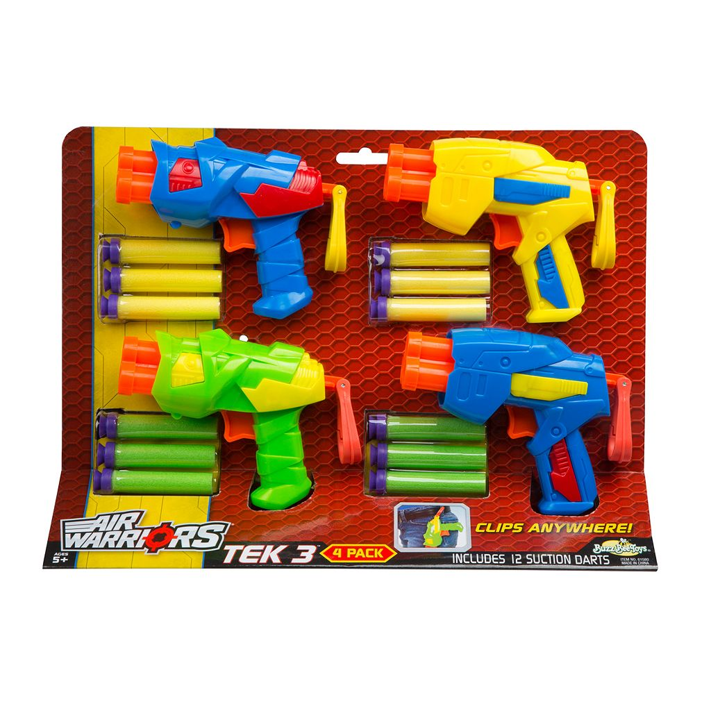 Air Warriors Tek 3 Blaster 4-Pack by Buzz Bee
