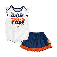 Baby Majestic Detroit Tigers Cute Fan Bodysuit & Skirt Set