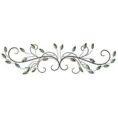 Stratton Home Decor Patina Scroll Leaf Metal Wall Art
