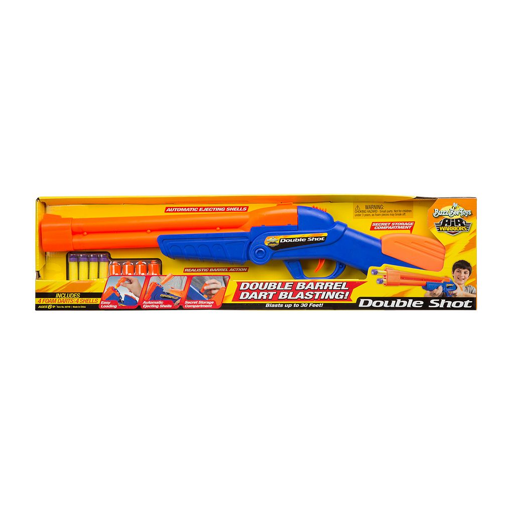 Air Warriors Over Under Double Shot Blaster by Buzz Bee