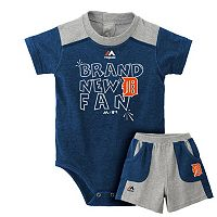 Baby Majestic Detroit Tigers Brand New Fan Bodysuit & Shorts Set