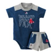 Baby Majestic Boston Red Sox Brand New Fan Bodysuit & Shorts Set