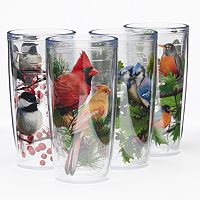 Signature Tumblers Birds 4 pc Insulated Tumbler Set
