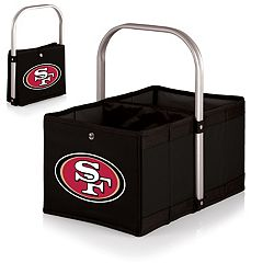 Picnic Time San Francisco 49ers Black Urban Folding Picnic Basket