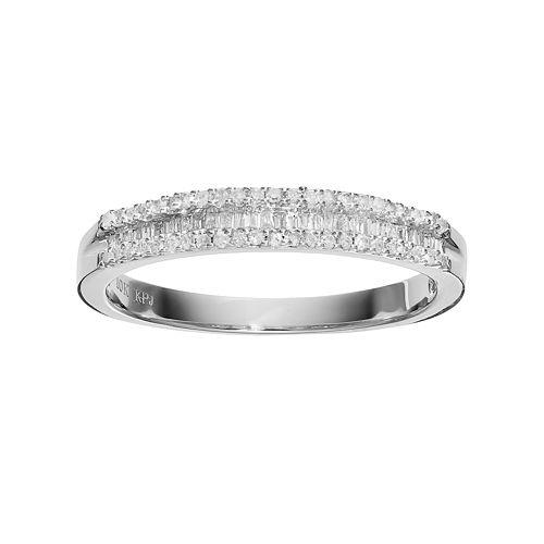 10k White Gold 1/4 Carat T.W. Diamond Ring