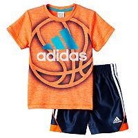 Boys 4-7x adidas Sport Tee & Shorts Set