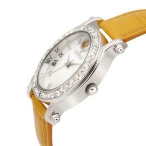 Croton Women's Birthstone Leather Watch