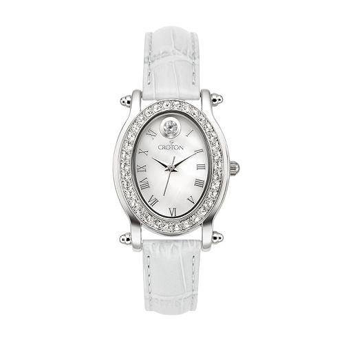 Croton Women's Birthstone Leather Watch