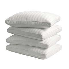 Royal Majesty 4-pk. 350 Thread Count Damask Stripe Cotton Down Alternative Pillows
