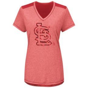 Women's Majestic St. Louis Cardinals Bright Lights Tee