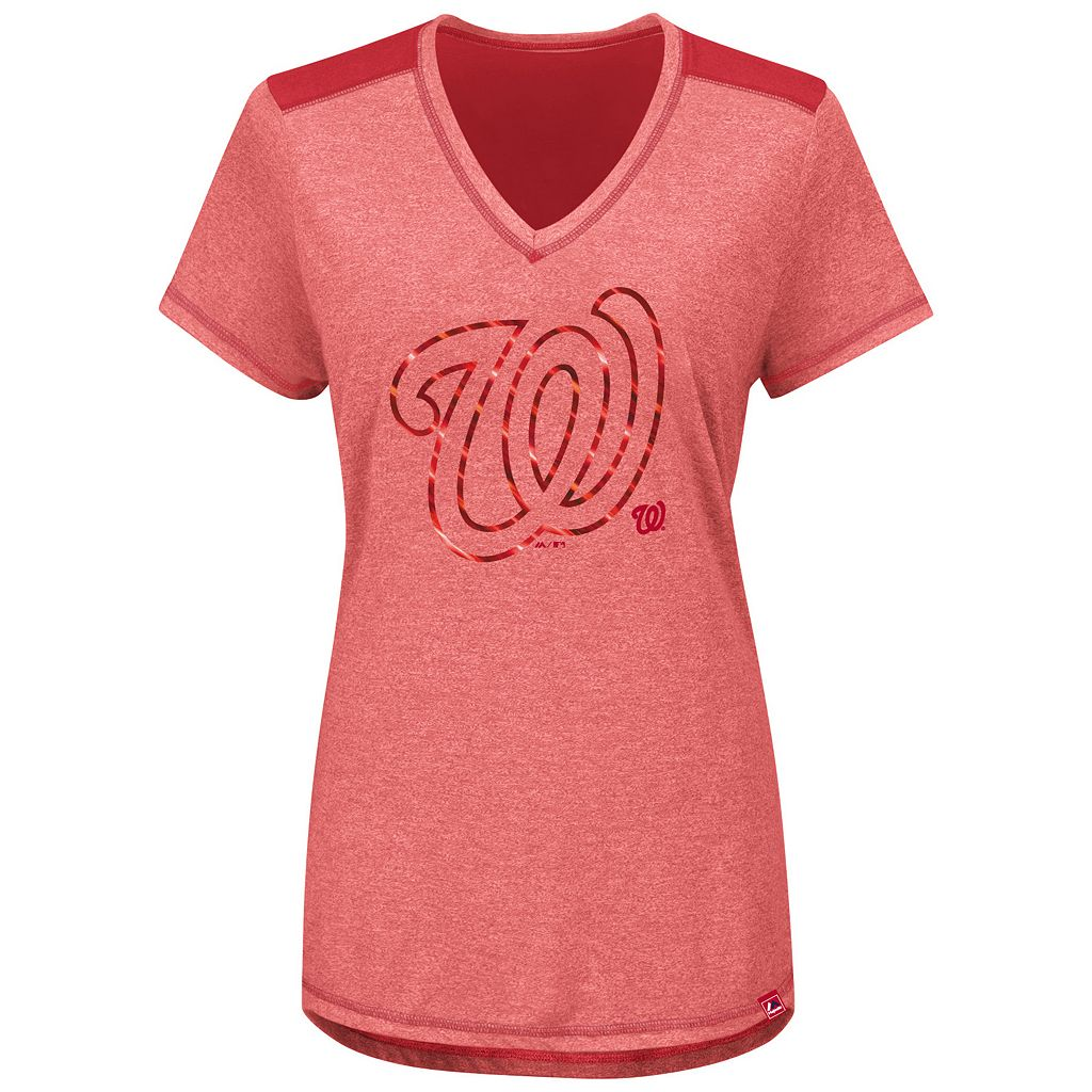 Women's Majestic Washington Nationals Bright Lights Tee