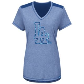 Women's Majestic Los Angeles Dodgers Bright Lights Tee