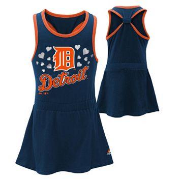 Toddler Majestic Detroit Tigers Criss-Cross Dress