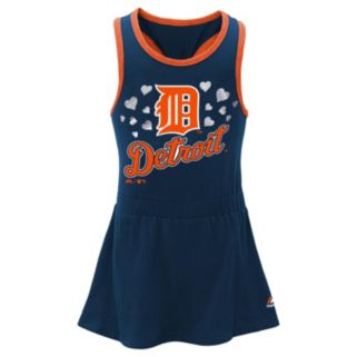 Toddler Majestic Detroit Tigers Criss-Cross Dress