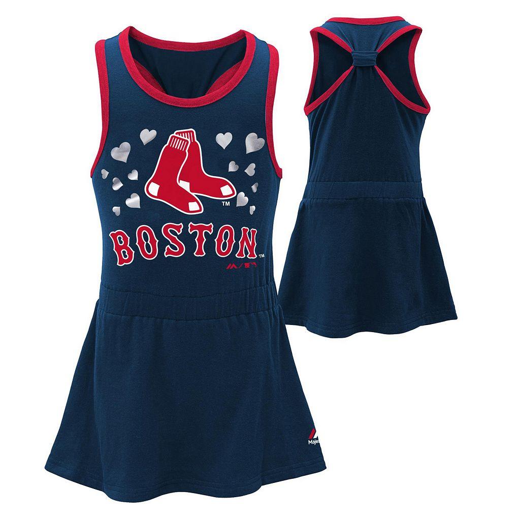Toddler Majestic Boston Red Sox Criss-Cross Dress