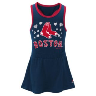 Toddler Majestic Boston Red Sox Criss-Cross Dress