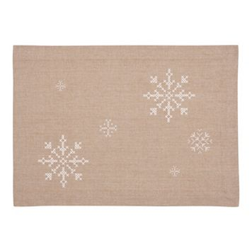 KAF HOME Snowflake Holiday 4-pc. Placemat Set