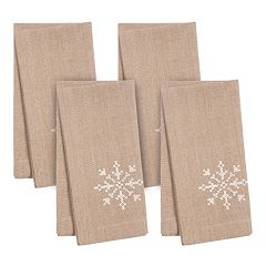 KAF HOME Snowflake Holiday 4-pc. Napkin Set