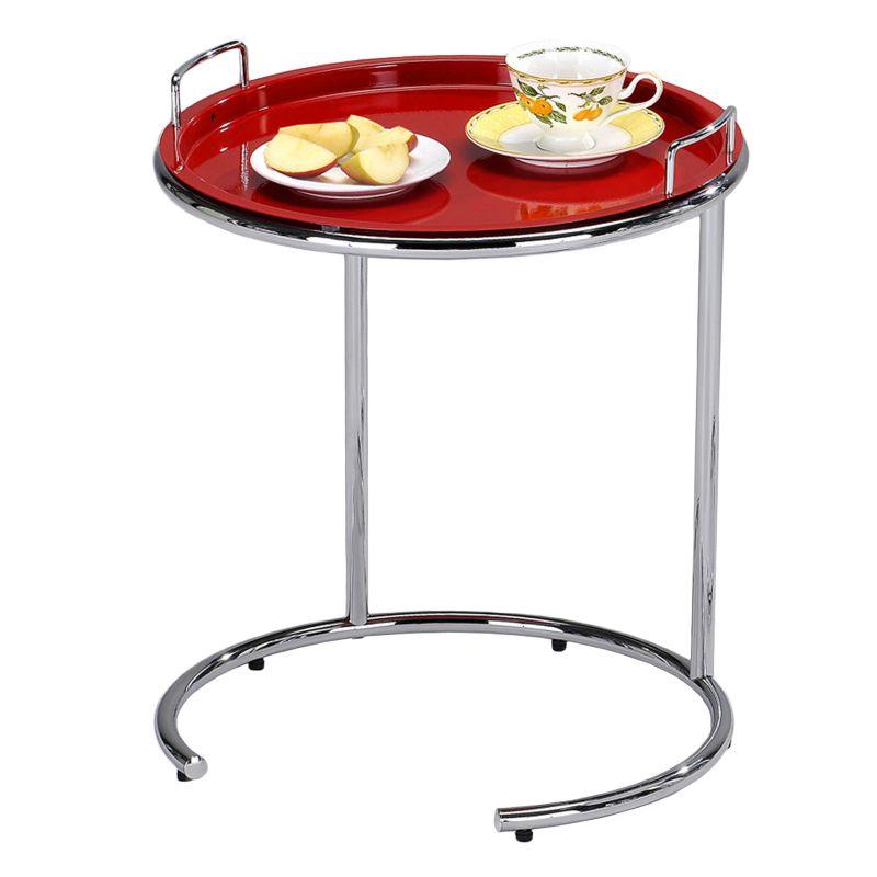 Leick Furniture Tray Top End Table, Red