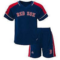 Toddler Majestic Boston Red Sox Baseball Classic Tee & Shorts Set