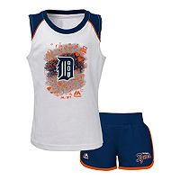 Toddler Majestic Detroit Tigers Doodle Time Tee & Shorts Set