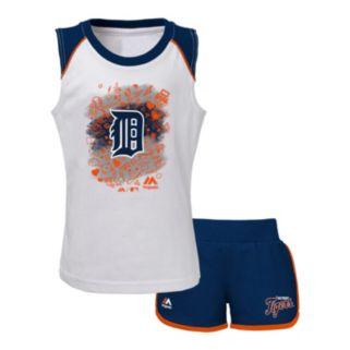 Toddler Majestic Detroit Tigers Doodle Time Tee & Shorts Set