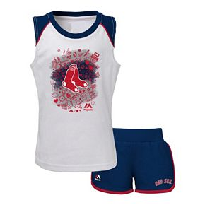 Toddler Majestic Boston Red Sox Doodle Time Tee & Shorts Set