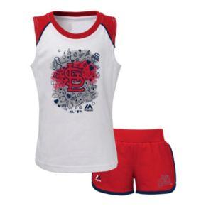 Toddler Majestic St. Louis Cardinals Doodle Time Tee & Shorts Set