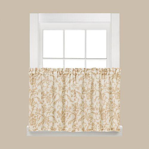 Saturday Knight, Ltd. 2-pack Melissa Tier Curtains - 58'' x 36''