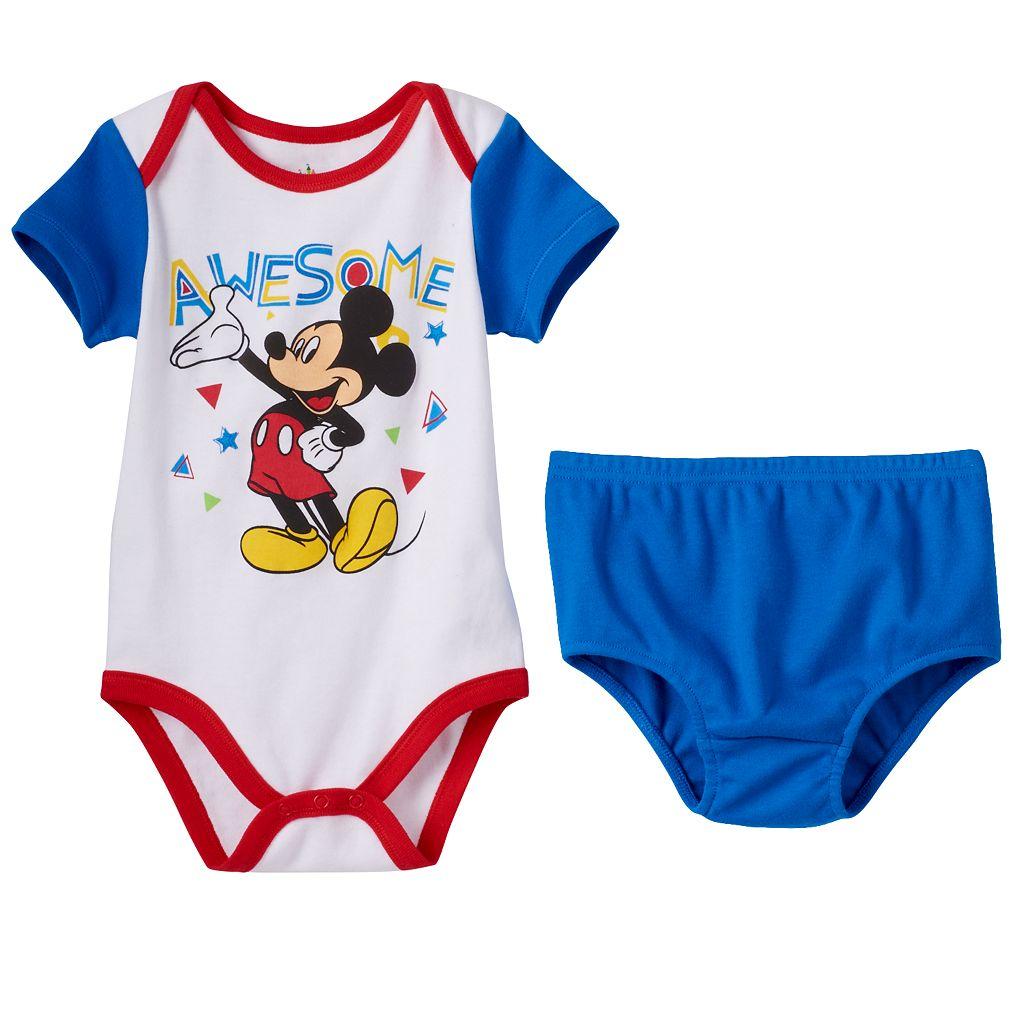 Disney's Mickey Mouse Baby Boy 2-pk. Bodysuits