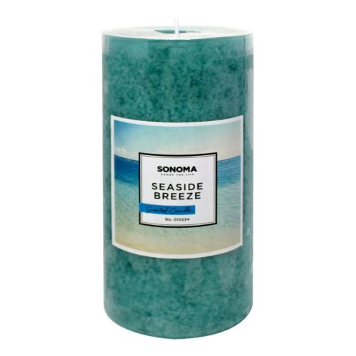 "SONOMA Goods for Life™ 3"" x 6"" Seaside Breeze Pillar Candle"