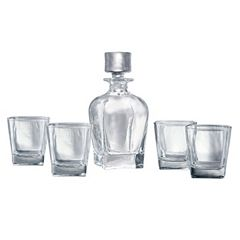 Artland Glacier 5 pc Whiskey Decanter Set