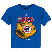 Toddler Majestic Chicago Cubs Baseball Mitt Tee