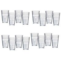 Artland 16 pc Pub Glass Set