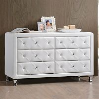 Baxton Studio Luminescence Upholstered Dresser